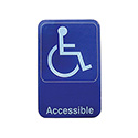 "Accessible Wall Sign with Braille 6"" x 9"""