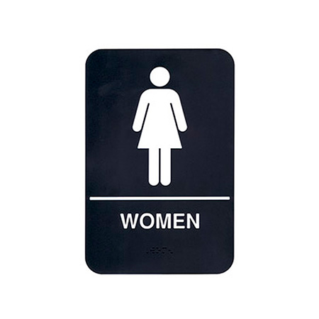 "Women Wall Sign with Braille 6"" x 9"""