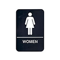 Women Wall Sign with Braille 6\x22 x 9\x22