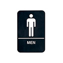 Men Wall Sign with Braille 6\x22 x 9\x22
