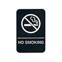 "No Smoking Wall Sign with Braille 6"" x 9"""