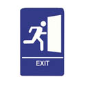 "Exit Wall Sign with Braille 6"" x 9"""