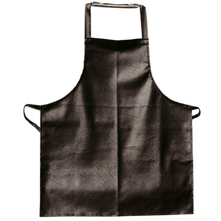Brown Vinyl Bib Apron