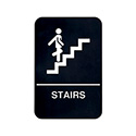 "Stairs Wall Sign with Braille 6"" x 9"""