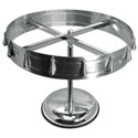 12-Clip Stainless Steel Check Wheel 14-1/2\x22 Diameter