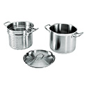 20-Quart Induction Ready SuperSteel Pasta Cooker with Strainer and Cover