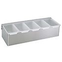 Five 1-Pint Compartment Condiment Dispenser with Lid 15\x22W