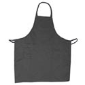 3-Pocket Economy Full Length Black Bib Apron