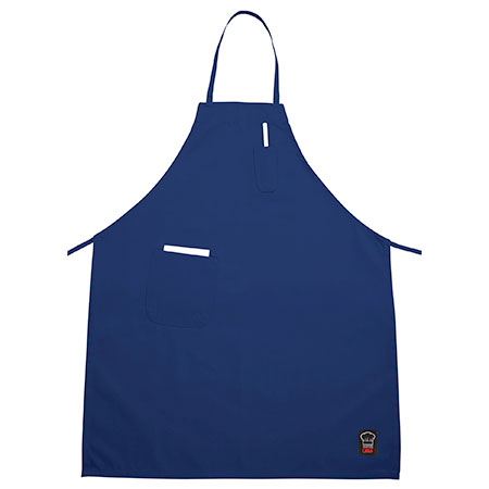 3-Pocket Economy Full Length Blue Bib Apron