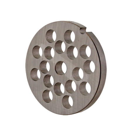 "3/8"" Grinder Plate for #10 Manual Meat Grinder and Meat Grinder Attachment for #12 Hub"