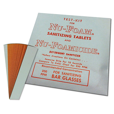 Test Kit for Sanitizing Tablets Using Steramine