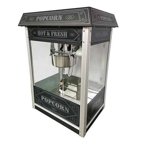 Festi'val 8 oz. Luxury Black Popcorn Popper