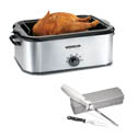 Proctor Silex 18-Quart Stainless Steel Roaster Oven with Free Electric Knife