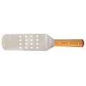 Flexible Perforated Stainless Steel Turner with Wood Handle 8\x22 x 3\x22