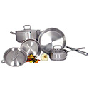 7-Piece Induction Ready Stainless Steel Cookware Set