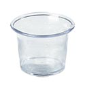 2.625 oz. Clear Plastic Sauce Cup