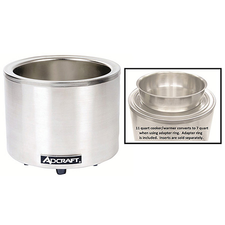 11-Quart Round Countertop Food Cooker/Warmer