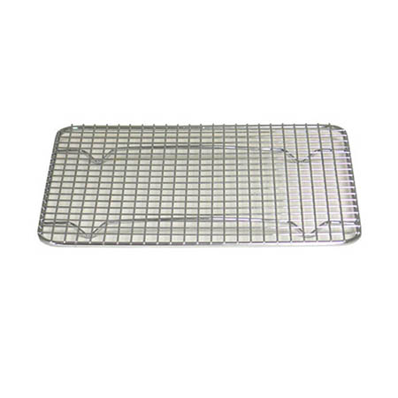 "Footed Wire Grate for 1/2 Sized Sheet Pan 12"" x 16-1/2"""