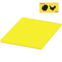 Yellow Polyethylene Cutting Board for Poultry 12\x22 x 18\x22 x1/2\x22
