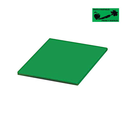 "Green Polyethylene Cutting Board for Fruits and Vegetables 12"" x 18"" x 1/2"""