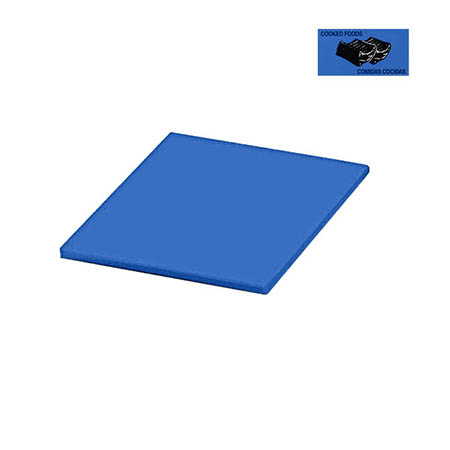 "Blue Polyethylene Cutting Board for Cooked Food 12"" x 18"" x 1/2"""
