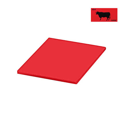Red Polyethylene Cutting Board for Meat