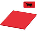 Red Polyethylene Cutting Board for Meat 18