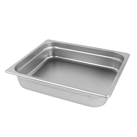 "1/2-Size Anti-Jam Standard Weight Stainless Steel Food Pan 2-1/2"" Deep"