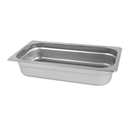 "1/3-Size Anti-Jam Standard Weight Stainless Steel Food Pan 2-1/2"" Deep"