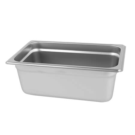 "1/3-Size Anti-Jam Standard Weight Stainless Steel Food Pan 6"" Deep"