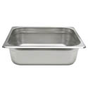 1/4-Size Anti-Jam Standard Weight Stainless Steel Food Pan 4\x22 Deep