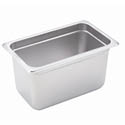 1/4-Size Anti-Jam Standard Weight Stainless Steel Food Pan 6\x22 Deep