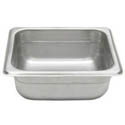 1/6-Size Anti-Jam Standard Weight Stainless Steel Food Pan 2-1/2\x22 Deep