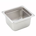 1/6-Size Anti-Jam Standard Weight Stainless Steel Food Pan 4\x22 Deep