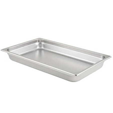 "1/3-Size Anti-Jam Heavy Duty Stainless Steel Food Pan 2-1/2"" Deep"