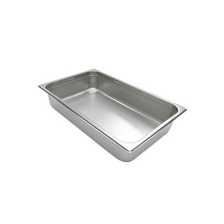 "Full Size Anti-Jam Heavy Duty Stainless Steel Food Pan 4"" Deep"