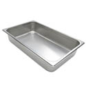 Full Size Anti-Jam Heavy Duty Stainless Steel Food Pan 4\x22 Deep