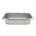1/2-Size Anti-Jam Heavy Duty Stainless Steel Food Pan 2-1/2\x22 Deep