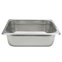 1/2-Size Anti-Jam Heavy Duty Stainless Steel Food Pan 4\x22 Deep