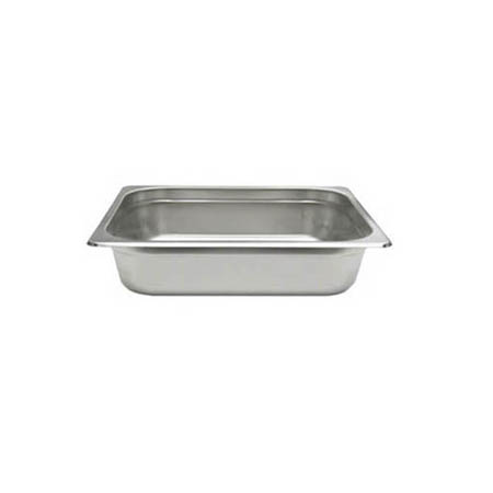 "1/4-Size Anti-Jam Heavy Duty Stainless Steel Food Pan 4"" Deep"