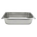 1/4-Size Anti-Jam Heavy Duty Stainless Steel Food Pan 4\x22 Deep
