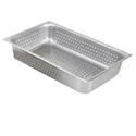 Full Size Perforated Stainless Steel Food Pan 4\x22 Deep