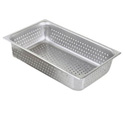 "Full Size Perforated Stainless Steel Food Pan 6"" Deep"