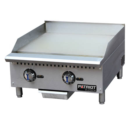"Patriot Platinum 60,000 BTU Thermostat Controlled Gas Griddle 24""W"