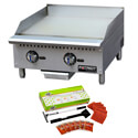 Patriot Platinum Thermostat Controlled Gas Griddle with Free 3M Cleaning Kit, a $76.50 value