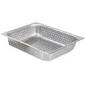"1/2-Size Perforated Stainless Steel Food Pan 2-1/2"" Deep"