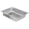 "1/2-Size Perforated Stainless Steel Food Pan 4"" Deep"