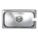 Slotted Cover for 1/3-Size Stainless Steel Food Pan