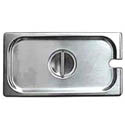 Slotted Cover for 1/4-Size Stainless Steel Food Pan