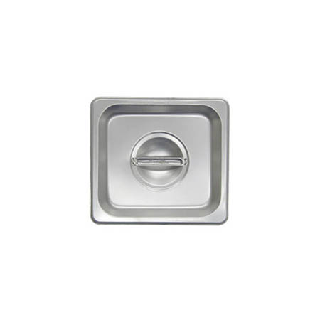 Solid Cover for 1/6-Size Stainless Steel Food Pan